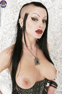 topless gothic slut