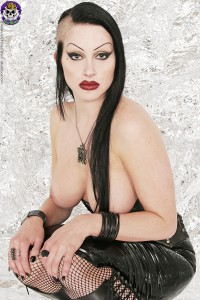 topless gothic slut in leather