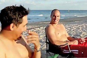 Chubby Teen Riding Dildo Beach Bait And Switch