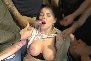 Big Titted 18 Year Old Russian Slut Gets Gangbanged For The First Time Hardcoregangbang