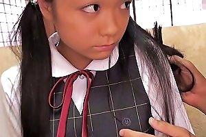 Tiny Busty Japanese Schoolgirl Clit Stimulated